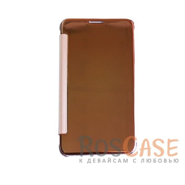 Чехол-книжка с полупрозрачной акриловой крышкой с зеркальным покрытием для Samsung J710F Galaxy J7 (Розовый)<br><br>Тип: Чехол<br>Бренд: Epik<br>Материал: Пластик
