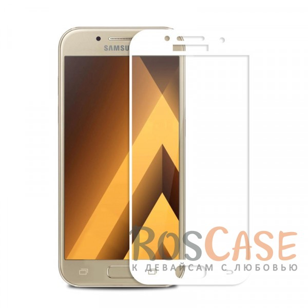 Защитное стекло с цветной рамкой на весь экран с олеофобным покрытием анти-отпечатки для Samsung A520 Galaxy A5 (2017) (Белый)Описание:компания&amp;nbsp;Epik;совместимо с Samsung A520 Galaxy A5 (2017);материал: закаленное стекло;тип: защитное стекло на экран.Особенности:полностью закрывает дисплей;толщина - 0,3 мм;цветная рамка;прочность 9H;покрытие анти-отпечатки;защита от ударов и царапин.<br><br>Тип: Защитное стекло<br>Бренд: Epik