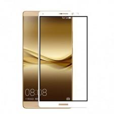 """Защитное стекло с цветной рамкой на весь экран с олеофобным покрытием """"анти-отпечатки"""" для Huawei Mate 8"""