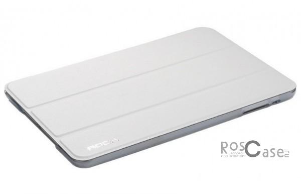 Кожаный чехол (книжка) Rock Uni Series для Apple IPAD mini (RETINA)/Apple IPAD mini 3 (Белый / White)Описание:производитель  - &amp;nbsp;Rock;совместим с Apple IPAD mini (RETINA)/Apple IPAD mini 3;материалы  -  кожзам и микрофибра;форма  -  чехол-книжка.&amp;nbsp;Особенности:может выполнять роль подставки;имеет все необходимые вырезы;легко чистится;не увеличивает габариты планшета;защищает от ударов и падений;не выцветает.<br><br>Тип: Чехол<br>Бренд: ROCK<br>Материал: Искусственная кожа