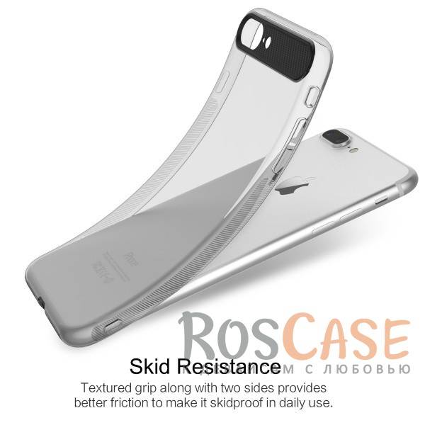 """Фотография Черный / Transparent black Rock Ace   Силиконовый чехол для Apple iPhone 7 plus / 8 plus (5.5"""") с матовой пластиковой вставкой"""