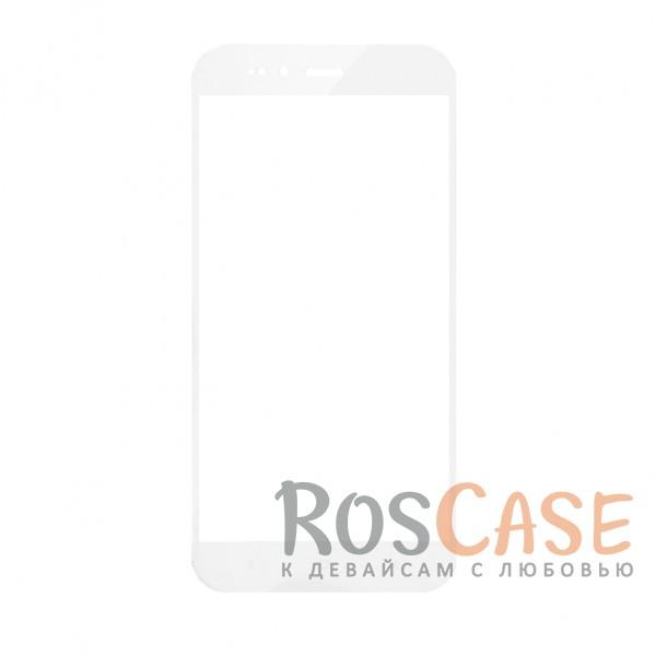 Фотография Белый Artis 2.5D | Цветное защитное стекло на весь экран для Xiaomi Mi 5X / Mi A1 на весь экран