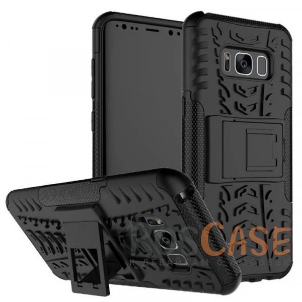 Противоударный двухслойный чехол Shield для Samsung G950 Galaxy S8 с подставкой (Черный)Описание:совместим с Samsung G950 Galaxy S8;удобная функция подставки;материал - поликарбонат, термополиуретан;тип - накладка;ударопрочная конструкция;предусмотрены все необходимые вырезы;рельефная фактура.<br><br>Тип: Чехол<br>Бренд: Epik<br>Материал: TPU