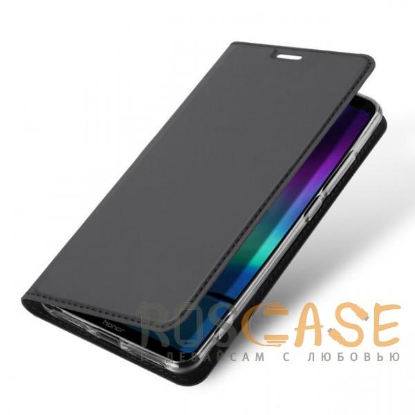 Фотография Серый Dux Ducis | Чехол-книжка для Huawei Honor Note 10 с функцией подставки и картхолдером