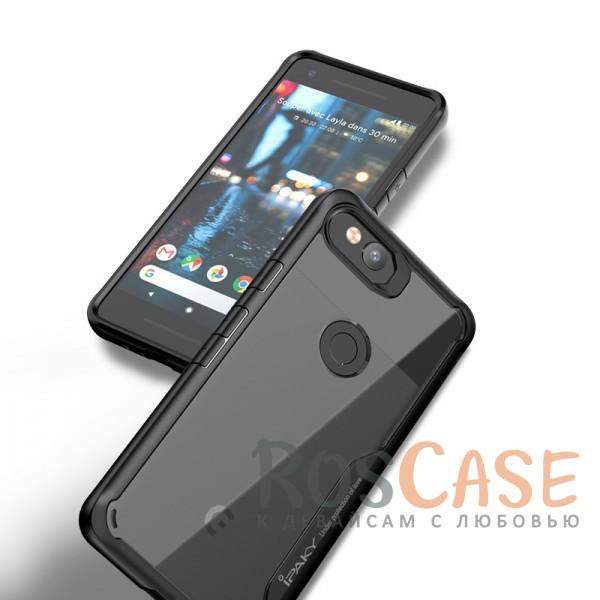 Фото Черный iPaky Luckcool | Чехол для Google Pixel 2 с цветными силиконовыми вставками