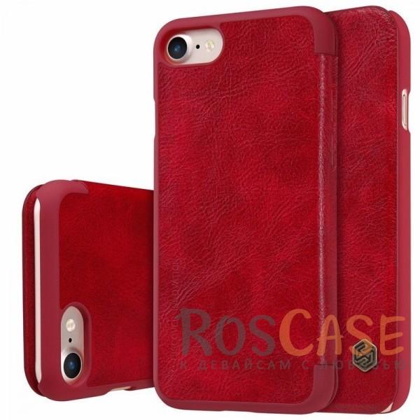 Кожаный чехол (книжка) Nillkin Qin Series для Apple iPhone 7 (4.7) (Красный)Описание:производитель:&amp;nbsp;Nillkin;совместим с Apple iPhone 7 (4.7);материал: натуральная кожа;тип: чехол-книжка.&amp;nbsp;Особенности:защита от механических повреждений;ультратонкий;фактурная поверхность;внутренняя отделка микрофиброй.<br><br>Тип: Чехол<br>Бренд: Nillkin<br>Материал: Натуральная кожа