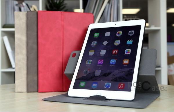 Кожаный чехол (книжка) ROCK Rotate Series Ver.2 для Apple iPad Air 2Описание:Чехол изготовлен компанией&amp;nbsp;Rock;Спроектирован для Apple iPad&amp;nbsp;Air 2;Материал  -  прочный поликарбонат и искусственная синтетическая кожа и полиуретан;Форма  -  чехол в виде книжки.Особенности:Исключается появление царапин и возникновение потертостей;Восхитительная амортизация при любом ударе;Обширная цветовая гаммаНе деформируется;Декоративная фактура;Функция Sleep mode;Возможен поворот вокруг своей оси.<br><br>Тип: Чехол<br>Бренд: ROCK<br>Материал: Искусственная кожа