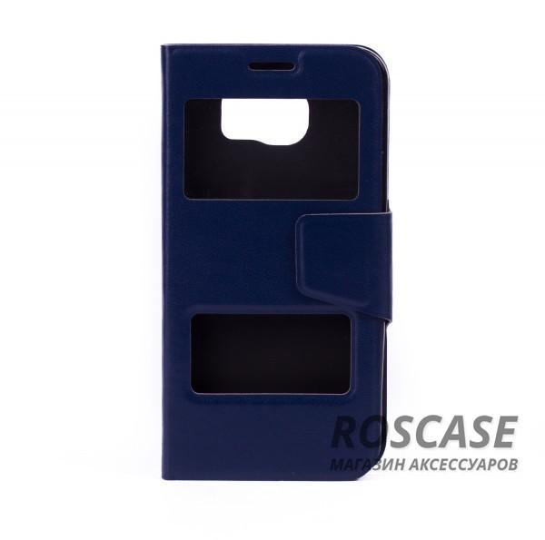 Чехол-обложка с окном для экрана и функцией трансформации в подставку для Samsung Galaxy S6 G920F/G920D Duos (Синий)Описание:компания разработчик: Epik;совместимость с устройством модели: Samsung Galaxy S6 G920F/G920D Duos;материал изделия: термополиуретан и синтетическая кожа;конфигурация: обложка в виде книжки.Особенности:двусторонняя защита устройства;высокий класс износоустойчивости;выполняет функцию подставки;смотровое окошко.<br><br>Тип: Чехол<br>Бренд: Epik<br>Материал: Искусственная кожа
