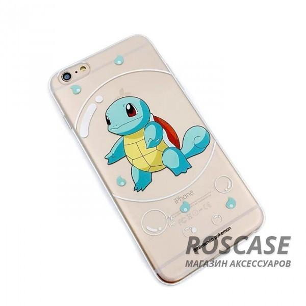 Прозрачный силиконовый чехол Pokemon Go для Apple iPhone 6/6s (4.7) (Squirtle / bubble)Описание:бренд:&amp;nbsp;Epik;совместимость: Apple iPhone 6/6s (4.7);материал: силикон;тип: накладка.&amp;nbsp;Особенности:принт с покемонами;не скользит в руках;эластичный и гибкий;плотно прилегает;в наличии все функциональные вырезы.<br><br>Тип: Чехол<br>Бренд: Epik<br>Материал: TPU