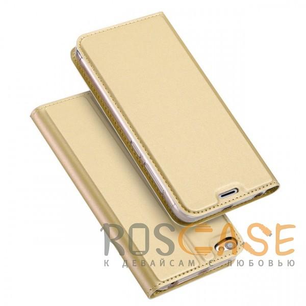 Изображение Золотой Dux Ducis | Чехол-книжка для Xiaomi Redmi Note 5A / Redmi Y1 Lite с подставкой и карманом для визиток