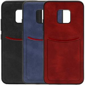 ILEVEL | Чехол с кожаным покрытием и с карманом-визитницей для Huawei Mate 20 Pro