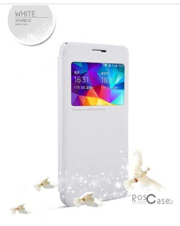 Кожаный чехол (книжка) Nillkin Sparkle Series для Samsung G530H/G531H Galaxy Grand Prime (Белый)Описание:Изготовлен компанией&amp;nbsp;Nillkin;Спроектирован персонально для Samsung G530H/G531H Galaxy Grand Prime;Материал: синтетическая высококачественная кожа и полиуретан;Форма: чехол в виде книжки.Особенности:Исключается появление царапин и возникновение потертостей;Восхитительная амортизация при любом ударе;Фактурная поверхность;Элегантное окошко;Не подвержен деформации;Непритязателен в уходе.<br><br>Тип: Чехол<br>Бренд: Nillkin<br>Материал: Искусственная кожа