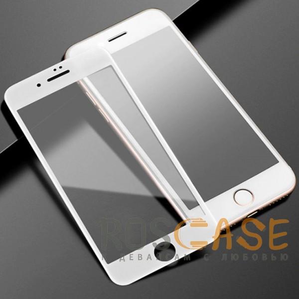"""Фото Белое 5D защитное стекло для Apple iPhone 7 / 8 (4.7"""") на весь экран"""