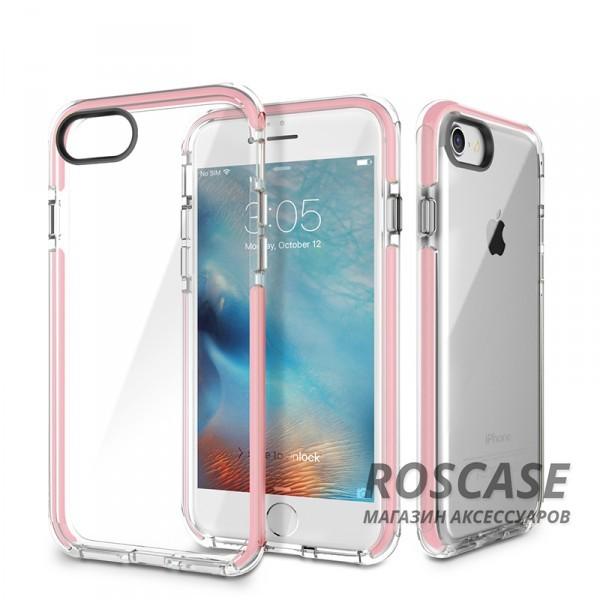 TPU+PC чехол Rock Guard Series для Apple iPhone 7 (4.7) (Розовый / Transparent pink)Описание:фирма: Rock;совместимость: Apple iPhone 7 (4.7);материал: термопластичный полиуретан и поликарбонат;вид: накладка.Особенности:наличие прочной окантовки;красивые стильные оттенки;долговечность без потери внешнего вида;простота фиксации.<br><br>Тип: Чехол<br>Бренд: ROCK<br>Материал: TPU