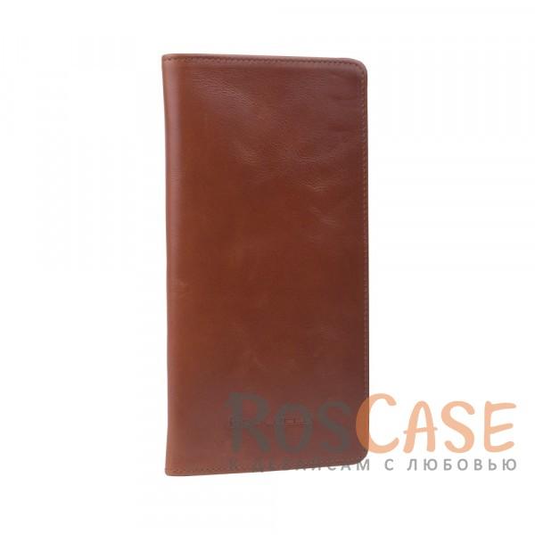 Фотография Мужской кошелек из натуральной кожи с отделением для купюр и вкладышем для карт и визиток