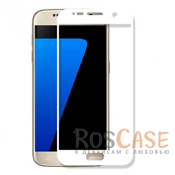 Защитное стекло CaseGuru Tempered Glass на весь экран для Samsung G930F Galaxy S7 (Белое)<br><br>Тип: Защитное стекло<br>Бренд: CaseGuru