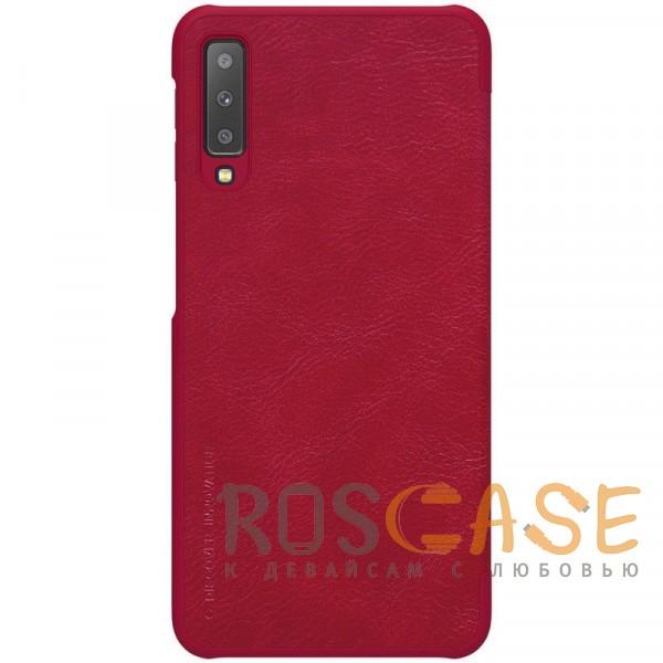 Изображение Красный Nillkin Qin натур. кожа | Чехол-книжка для Samsung A705F Galaxy A70