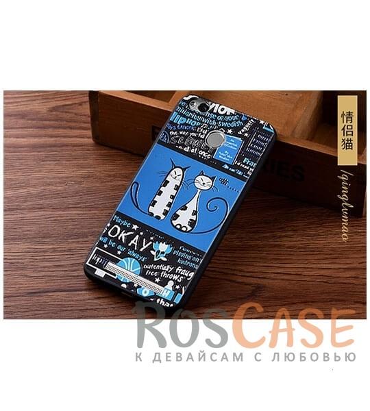TPU чехол с принтом Cats story tales для Xiaomi Redmi 3 Pro / Redmi 3s (Синий)<br><br>Тип: Чехол<br>Бренд: Epik<br>Материал: TPU