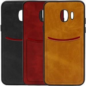 ILEVEL | Чехол с кожаным покрытием и с карманом-визитницей для Samsung Galaxy J2 Core (2018)
