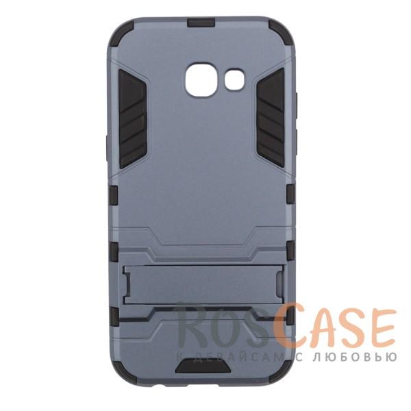 Ударопрочный чехол-подставка Transformer для Samsung A720 Galaxy A7 (2017) с мощной защитой корпуса (Серый / Metal slate)Описание:ударопрочный аксессуар с функцией подставки;чехол разработан для Samsung A720 Galaxy A7 (2017);материалы - термополиуретан, поликарбонат;тип - накладка.<br><br>Тип: Чехол<br>Бренд: Epik<br>Материал: TPU