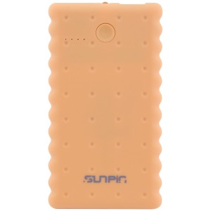 "SunPin K50 | Портативное зарядное устройство Power Bank с фонариком (5000 mAh 1 USB 2A) ""Печенье"" для Samsung Galaxy J7 Max (G615F)"