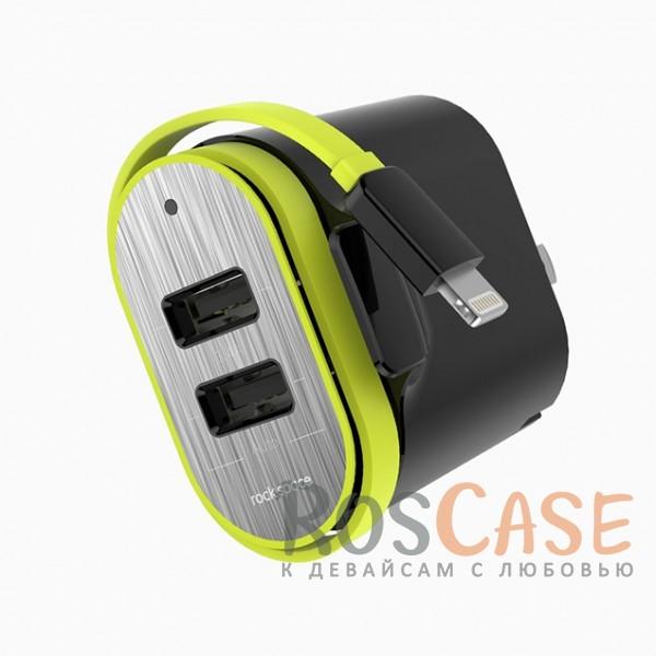 Фото #Сетевое ЗУ ROCK (Sotor Travel) 2-USB 5V 3.4A (+ кабель lightning)
