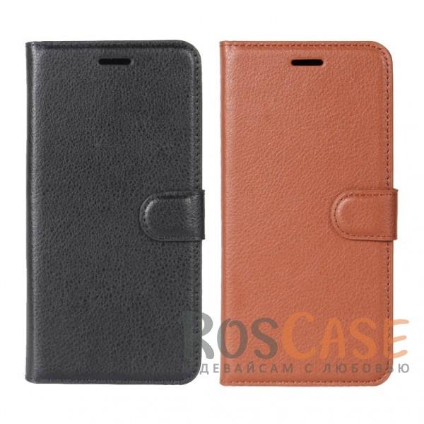 Гладкий кожаный чехол-бумажник на магнитной застежке Wallet с функцией подставки и внутренними карманами для HTC U11Описание:совместимость - HTC U11;материалы  -  искусственная кожа, TPU;форма  -  чехол-книжка;фактурная поверхность;предусмотрены все функциональные вырезы;кармашки для визиток/кредитных карт/купюр;магнитная застежка;защита от механических повреждений.<br><br>Тип: Чехол<br>Бренд: Epik<br>Материал: Искусственная кожа