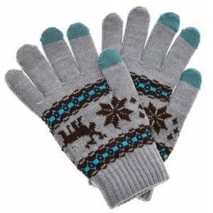 Перчатки Fashion Glove для сенсорных (емкостных) экранов Зимний мотив