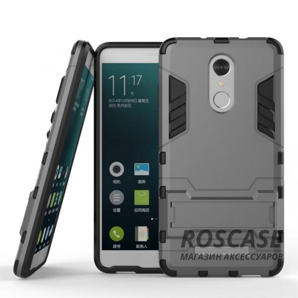 Ударопрочный чехол-подставка Transformer для Xiaomi Redmi Note 3/Note 3 Pro с мощной защитой корпуса (Металл / Gun Metal)Описание:материалы  -  поликарбонат, термополиуретан;совместим с Xiaomi Redmi Note 3 / PRO;форм-фактор  -  накладка.Особенности:ударопрочный;антискольжение;легкая фиксация;не деформируется;морозостойкий.<br><br>Тип: Чехол<br>Бренд: Epik<br>Материал: TPU