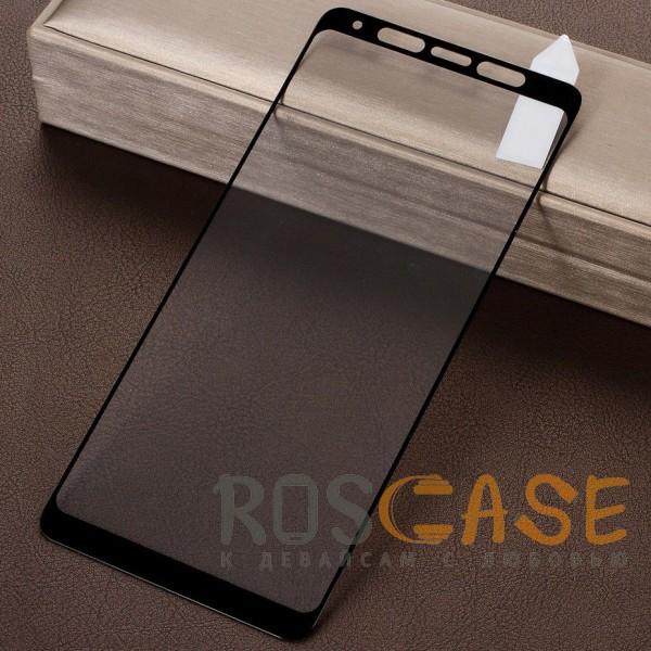 Фото Черное 5D защитное стекло для Samsung Galaxy A9 (2018) на весь экран