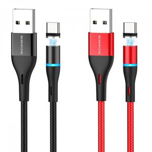 Borofone BU16 | Магнитный кабель USB Type-C для телефона 2.4A 1.2 метра