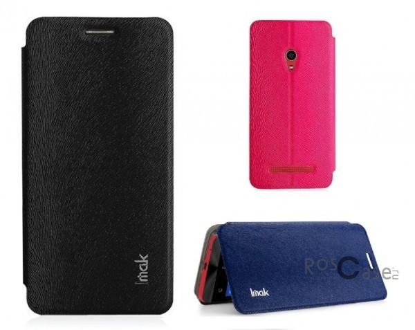 Кожаный чехол (книжка) IMAK Fun Series для Asus Zenfone 5 (A501CG)Описание:бренд:&amp;nbsp;IMAK;совместим с Asus Zenfone 5&amp;nbsp;(A501CG);используемые материалы: поликарбонат, синтетическая кожа;форма чехла: книжка.&amp;nbsp;Особенности:поликарбонатный каркас;износоустойчивые прочные материалы;полный набор функциональных вырезов;текстурированная поверхность;тонкое исполнение;эргономичные свойства  -  подставка.<br><br>Тип: Чехол<br>Бренд: iMak<br>Материал: Искусственная кожа