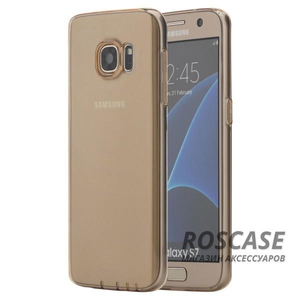 TPU чехол ROCK Ultrathin Slim Jacket для Samsung G930F Galaxy S7 (Золотой / Transparent Gold)Описание:разработчик  - &amp;nbsp;Rock;разработан с учетом особенностей Samsung G930F Galaxy S7;материал  -  термополиуретан;тип  -  накладка.&amp;nbsp;Особенности:соответствие всех вырезов функциям;прозрачный;не трескается;надежная система фиксации;на нем не видны следы от пальцевустойчив к пожелтению.<br><br>Тип: Чехол<br>Бренд: ROCK<br>Материал: TPU