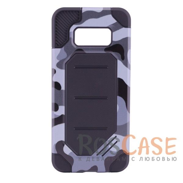Противоударный прочный чехол с усиленной защитой в армейском стиле для Samsung G955 Galaxy S8 Plus (Серый / Камуфляж)Описание:разработан специально для Samsung G955 Galaxy S8 Plus;камуфляжная расцветка;материалы - силикон, поликарбонат;тип - накладка;защита от царапин и ударов;не скользит в руках;предусмотрены все вырезы.<br><br>Тип: Чехол<br>Бренд: Epik<br>Материал: Силикон