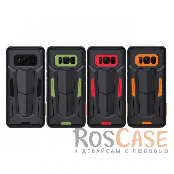 Ударопрочный двухслойный пластиковый чехол для Samsung G955 Galaxy S8 PlusОписание:производитель  - &amp;nbsp;Nillkin;чехол разработан для использования с Samsung G955 Galaxy S8 Plus;материал  -  термополиуретан, поликарбонат;тип  -  накладка;ударопрочная конструкция;цветные вставки;защита боковых кнопок;предусмотрены все функциональные вырезы.<br><br>Тип: Чехол<br>Бренд: Nillkin<br>Материал: Поликарбонат