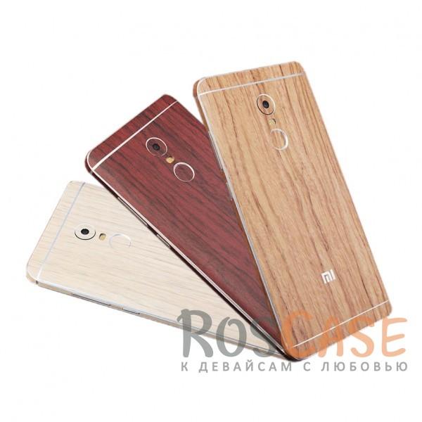Виниловая наклейка на обе стороны c текстурой дерева для Xiaomi Redmi Note 4 (MTK)<br><br>Тип: Чехол<br>Бренд: Epik<br>Материал: Натуральная кожа
