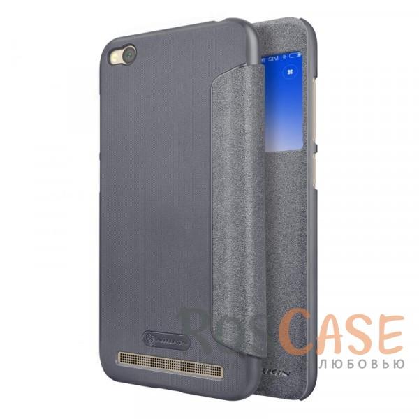 Защитный чехол-книжка Nillkin Sparkle с информационным окошком для Xiaomi Redmi 5A (Черный)Описание:спроектирован для Xiaomi Redmi 5A;материалы: поликарбонат, искусственная кожа;блестящая поверхность;не скользит в руках;предусмотрены все необходимые вырезы;защита со всех сторон;тип: чехол-книжка.<br><br>Тип: Чехол<br>Бренд: Nillkin<br>Материал: Искусственная кожа
