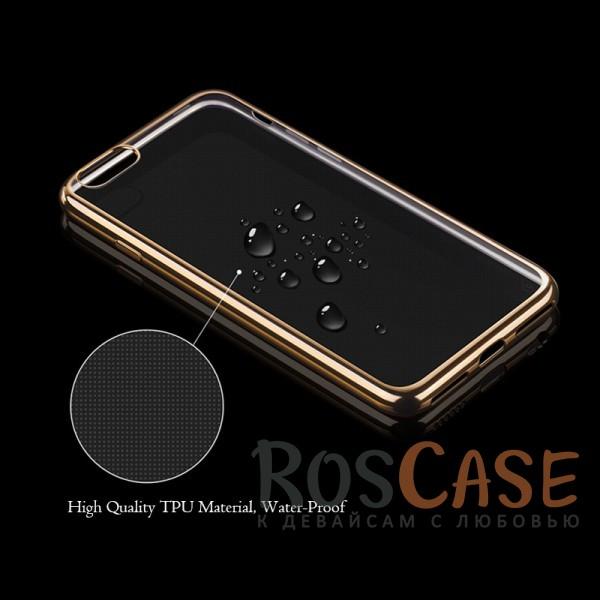 """Изображение Золотой Силиконовый чехол для Apple iPhone 7 plus / 8 plus (5.5"""") с глянцевой окантовкой"""