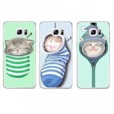 """Тонкий силиконовый чехол с принтом """"Милые котята""""  для Samsung Galaxy S7 (G930F)"""