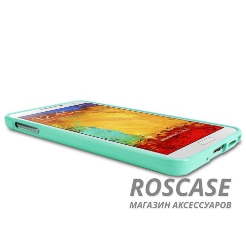 фото Бирюзовый TPU чехол Mercury Jelly Color series для Samsung N9000/N9002 Galaxy Note 3