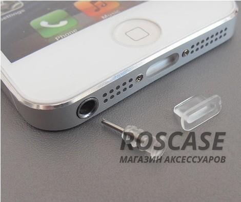 Заглушки Lightning+3.5мм аудио порта для Apple iPhone 6/6 plus/5/5S/5C/SE (Бесцветный)Описание:бренд&amp;nbsp;Epik;материал - силикон;тип&amp;nbsp; - &amp;nbsp;заглушки;совместимость - Apple iPhone 5/5S/5SE/6/6+.Особенности:закрывают порт lightning и 3,5 mini jack;универсальная совместимость;защита от пыли и сора;надежно фиксируются.<br><br>Тип: Общие аксессуары<br>Бренд: Epik