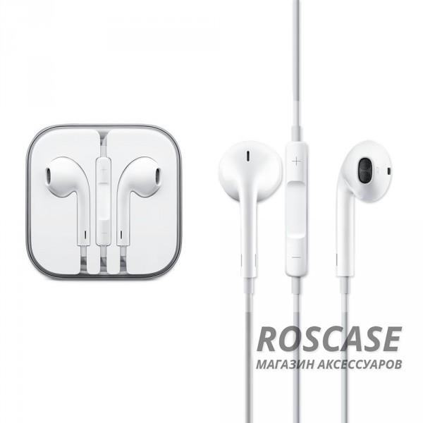 фото наушники Apple EarPods с пультом дистанционного управления и микрофоном (Original)