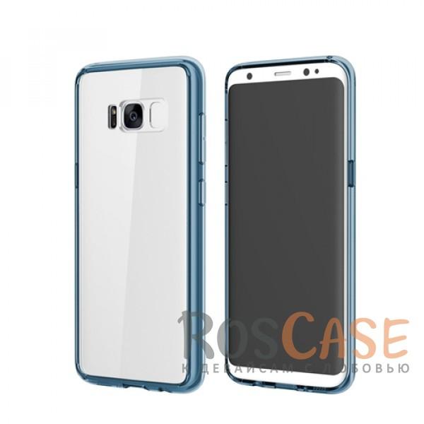 Ультратонкий пластиковый чехол-накладка с дополнительной защитой углов и кнопок для Samsung G955 Galaxy S8 Plus (Синий / Transparent Blue)Описание:производитель -&amp;nbsp;Rock;материалы - поликарбонат, термополиуретан;разработан специально для Samsung G955 Galaxy S8 Plus;прозрачная накладка;легкий дизайн;защитный бортик вокруг камеры;защита задней панели и боковых граней.<br><br>Тип: Чехол<br>Бренд: ROCK<br>Материал: Поликарбонат