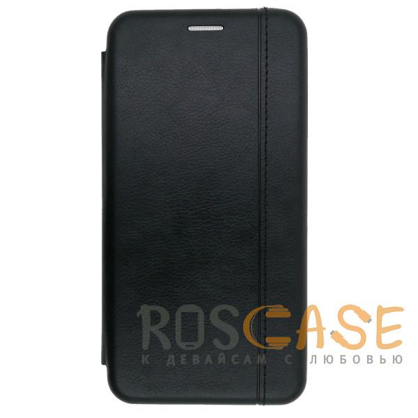 Фото Черный Open Color 2 | Кожаный чехол-книжка для Samsung Galaxy S10 с магнитом и подставкой