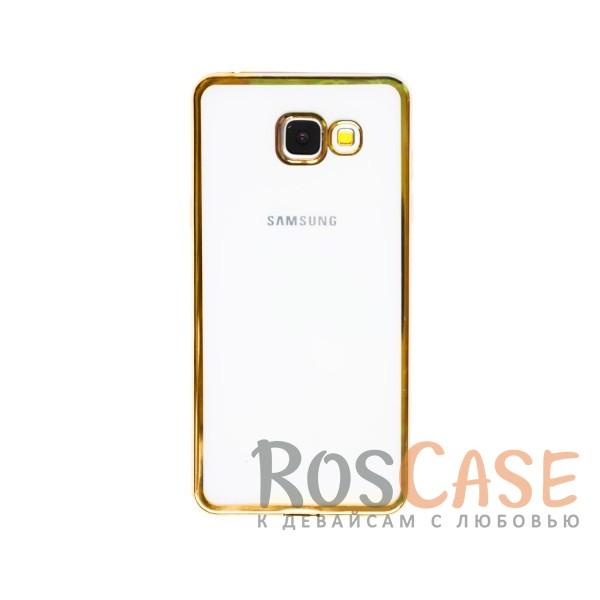 Прозрачный силиконовый чехол для Samsung A510F Galaxy A5 (2016) с глянцевой окантовкой (Золотой)Описание:подходит для Samsung A510F Galaxy A5 (2016);материал - силикон;тип - накладка.Особенности:глянцевая окантовка;прозрачный центр;гибкий;все вырезы в наличии;не скользит в руках;ультратонкий.<br><br>Тип: Чехол<br>Бренд: Epik<br>Материал: Силикон