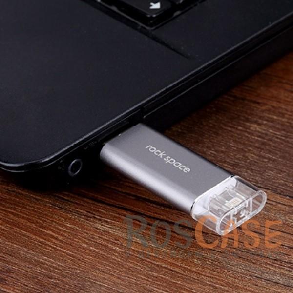 Фотография Серый / Grey Rock | Флеш-накопитель Flash drive F2 32 gb в алюминиевом корпусе