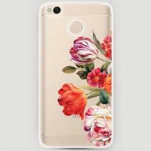 RosCase | Силиконовый чехол Весенний букет на Xiaomi Redmi 4X