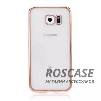 Прозрачный силиконовый чехол для Samsung G925F Galaxy S6 Edge с глянцевой окантовкой (Золотой)Описание:подходит для Samsung G925F Galaxy S6 Edge;материал - силикон;тип - накладка.Особенности:глянцевая окантовка;прозрачный центр;гибкий;все вырезы в наличии;не скользит в руках;ультратонкий.<br><br>Тип: Чехол<br>Бренд: Epik<br>Материал: Силикон