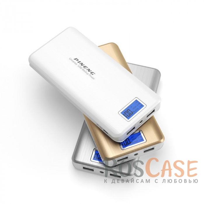 Фото Портативное зарядное устройство в противоударном корпусе с ЖК дисплеем и фонариком 20000mAh (2 USB)