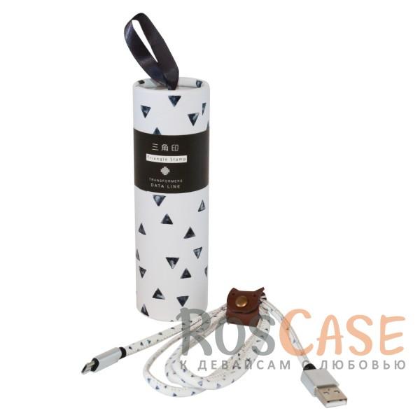 Фото Треугольники Дата кабель USB to MicroUSB (в подарочной упаковке)